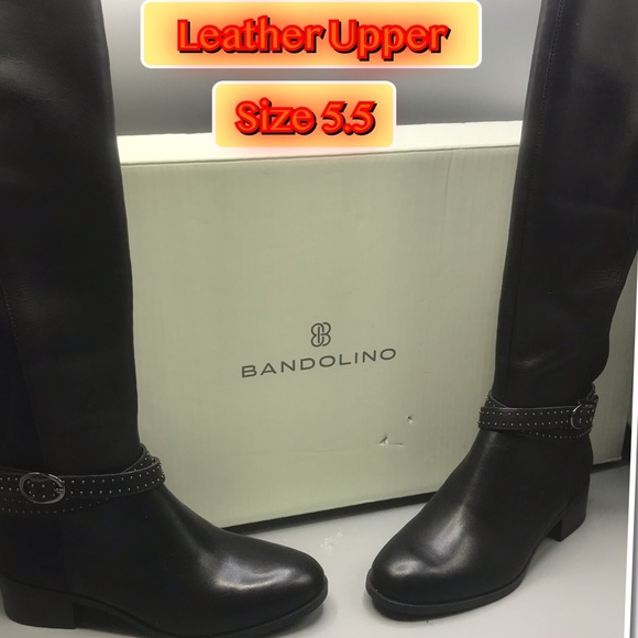 Bandoline Bdbryices Women's knee hi Leather Brown Boots